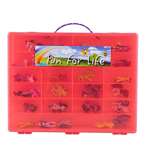 My Little Pony Compatible Organizer Hot Pink- Fun For Lifetm Is Pefect Storage Case Fits Up To 80 Little Pony Parts