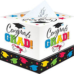Graduation Party Greeting Card Holder Box, Cardboard, 12