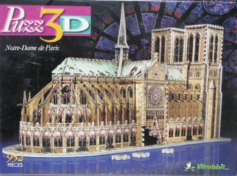 - Puzz 3D 952 Pieces Jigsaw Puzzle Notre Dame De Paris Cathedral By Wrebbit Toys