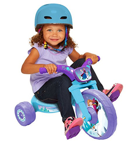 Frozen Northern Lights 10  Fly Wheels Junior Cruiser Ride-On, Ages 2-4, Blue/Purple, 14.25  X 14.5  X 23.5 , 5.6 Lb.