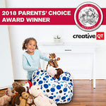 Creative Qt Stuffed Animal Storage Bean Bag Chair - Standard Stuff 'N Sit Organization For Kids Toy Storage - Available In A Variety Of Sizes And Colors (27 , Blue Polka Dot)