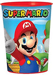 12X Super Mario Bros. Plastic 16 Ounce Reusable Keepsake Favor Cup ( 12 Cups )