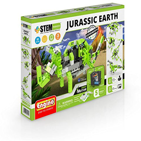 Engino Sth61 Jurassic Earth Motorized Models Construction System Toy