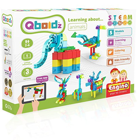 Engino ~ Qboidz ~ Learning About Animals | Stemq01 | Steam | Construction System For Ages 3 And Up