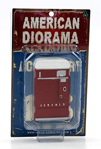 1 Piece Vending Machine Accessory Diorama Red For 1:18 Scale Models By American Diorama 23981R