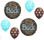 Loonballoon Mossy Oak It'S A Buck Blue Boy Baby Shower Camouflage 6 Mylar & Latex Balloons