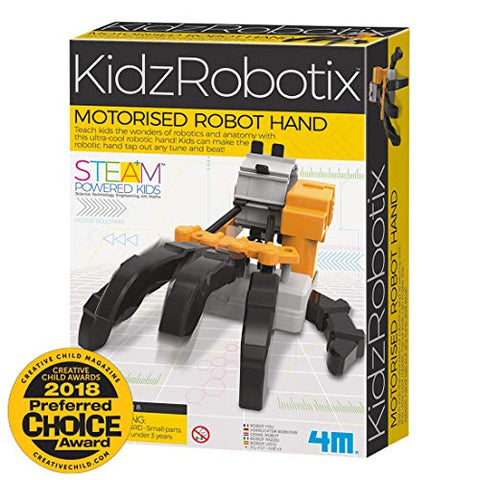 4M Kidzrobotix Motorized Robot Hand Kids Science Kit