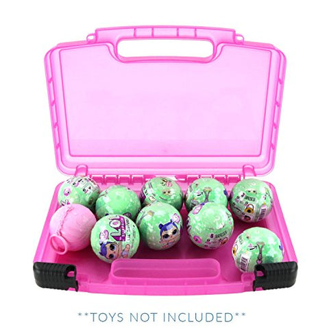 Life Made Better Carrying Case For Toys, Compatible With Surprise Dolls. This Box Is Not Created By Lol Surprise (Pink)