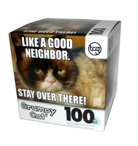 Grumpy Cat Like A Good Neighbor Puzzle-100 Pcs
