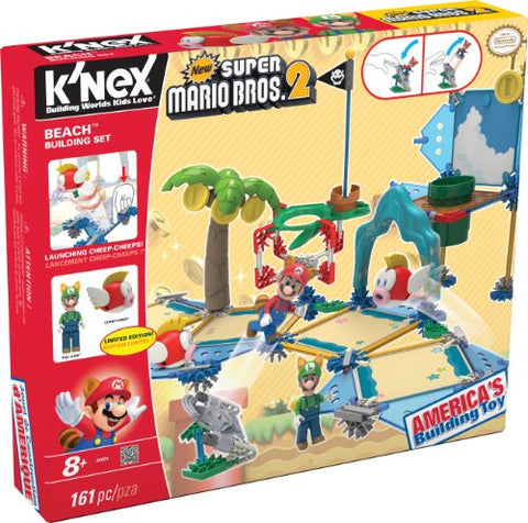 K'Nex New Super Mario Bros 2 Beach Building Set #38624