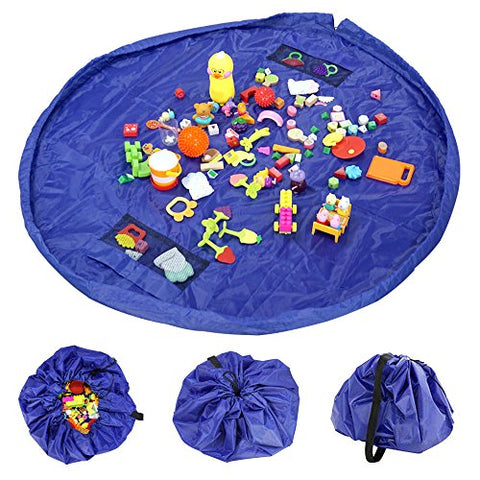 Besego Toys Storage Bag, 60 Inch Children'S Floor Activity Mat And Kids Toys Organizer, Very Convenient, Fast, And Neat Drawstring-Playroom Organizer, Perfect For Storing Lego, Small And Medium Toys