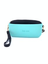 Load image into Gallery viewer, Be Me Baguette Bag - Mint with Black