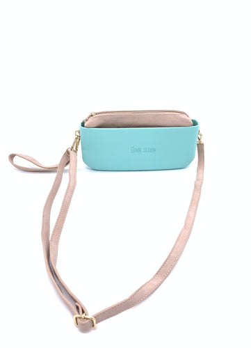 Be Me Baguette Bag - Mint with Beige