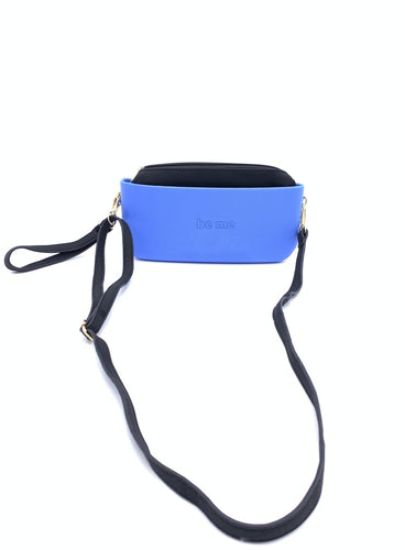 Be Me Baguette Bag - Blue with Black (On Sale)