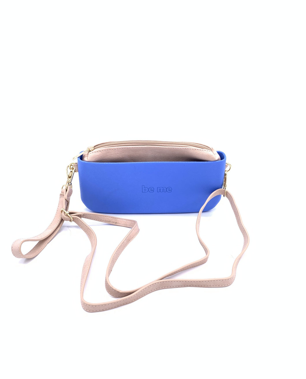 Be Me Baguette Bag - Blue with Beige (On Sale)