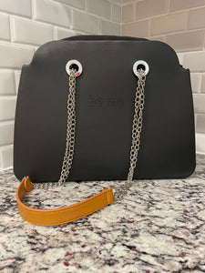 Be Me Bag Handles -Long Brown with Chains