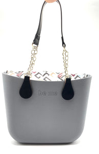 Be Me Bag Handles - Black with Chains
