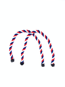 Be Me Bag Handles - Red, White, Blue Ropes