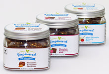 Load image into Gallery viewer, Gift Box of 3 Jars:  1 Chocolate & Toasted Nut, 1 Chocolate Raspberry, 1 White Chocolate & Cherry