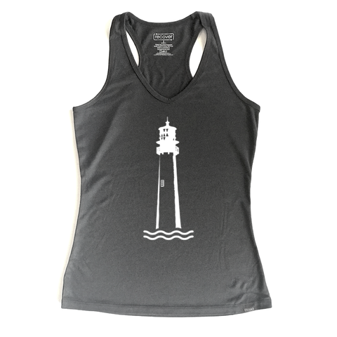 Lighthouse 100% Recycled Sport Women's Tank Top - Key Biscayne Living