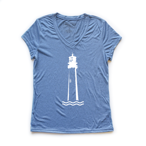 Lighthouse Recycled Women's Sport V-Neck - Key Biscayne Living