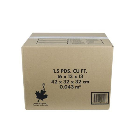 "1.5 Cube Moving Box 16"" x 13"" x 13"" Kraft 32ETC"