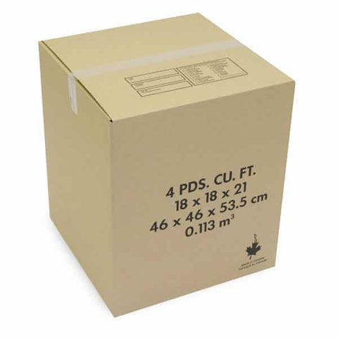 "4 Cube Moving Box 18"" x 18"" x 21"" Kraft 32ETC"