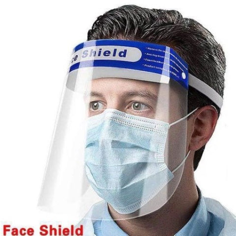 Full Face Shield with Adjustable Band and Comfort Sponge