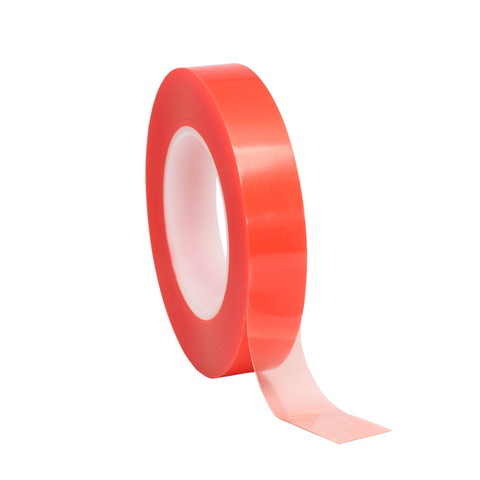 High Tack Double Sided Clear Red Liner Tape | Ecompack.ca