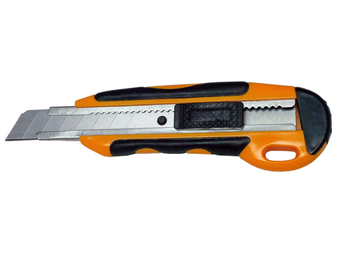 Large Utility Knife 18mm Metal Channel and Rubber Grip