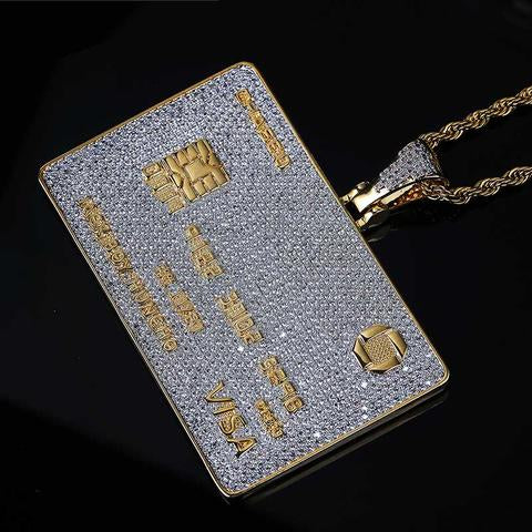 Collar Bling Card Revestido
