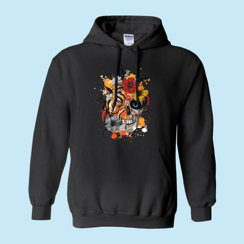Bright Floral Skull Hoodie - Spangle