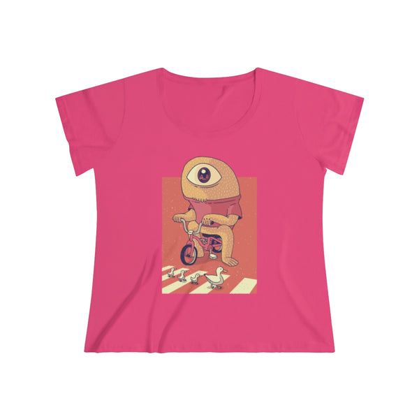 Cyclops on a Tricycle Women's Curvy Tee - Spangle