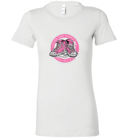 Chucks & Pearls Kamala Harris Fitted T-Shirt (girly style) - Spangle