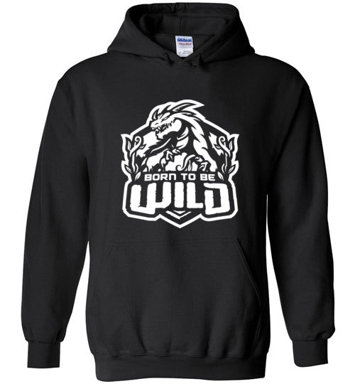 Born To Be Wild White Logo Unisex Pullover Hoodie - Spangle
