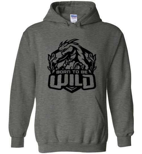 Born To Be Wild Black Logo Unisex Pullover Hoodie - Spangle