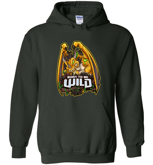 Born To Be Wild Dragon Unisex Pullover Hoodie - Spangle