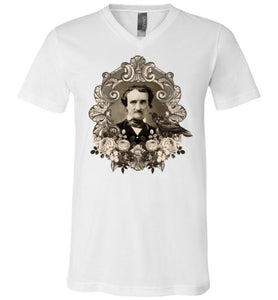 Edgar Allen Poe Unisex V-Neck T-Shirt - Spangle