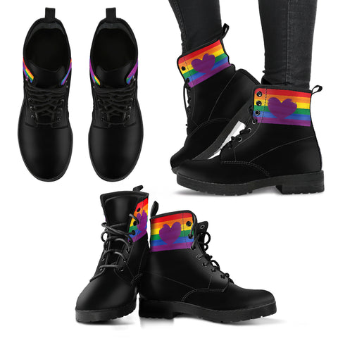Heart Pride - Vegan Women's Boots - Spangle
