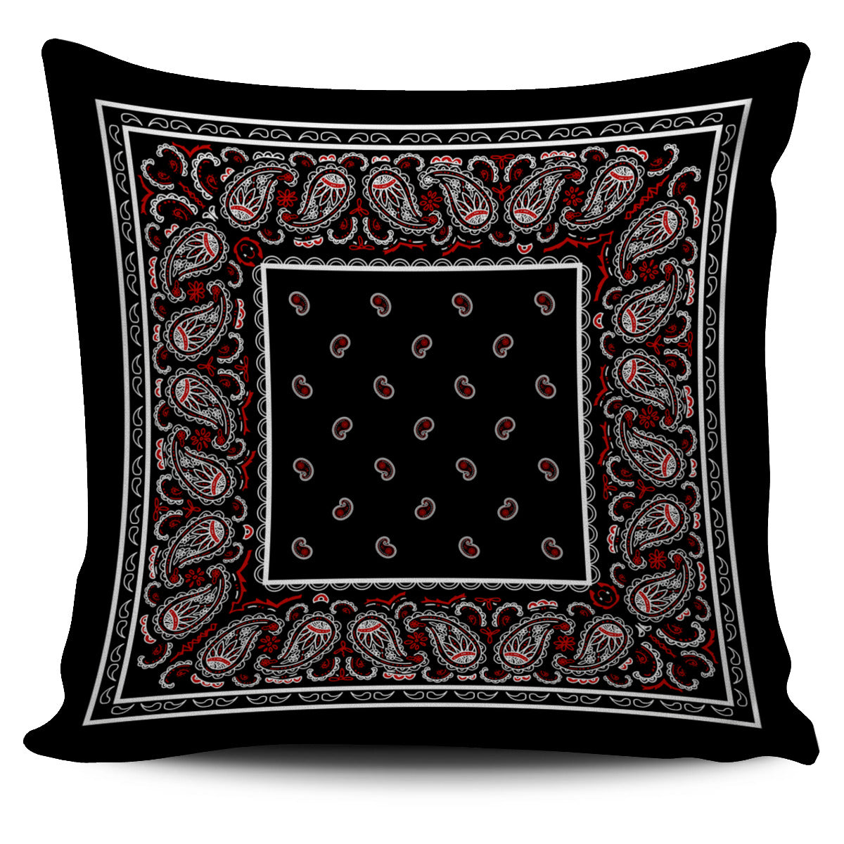 Wicked Black Bandana Throw Pillow Cover - Spangle