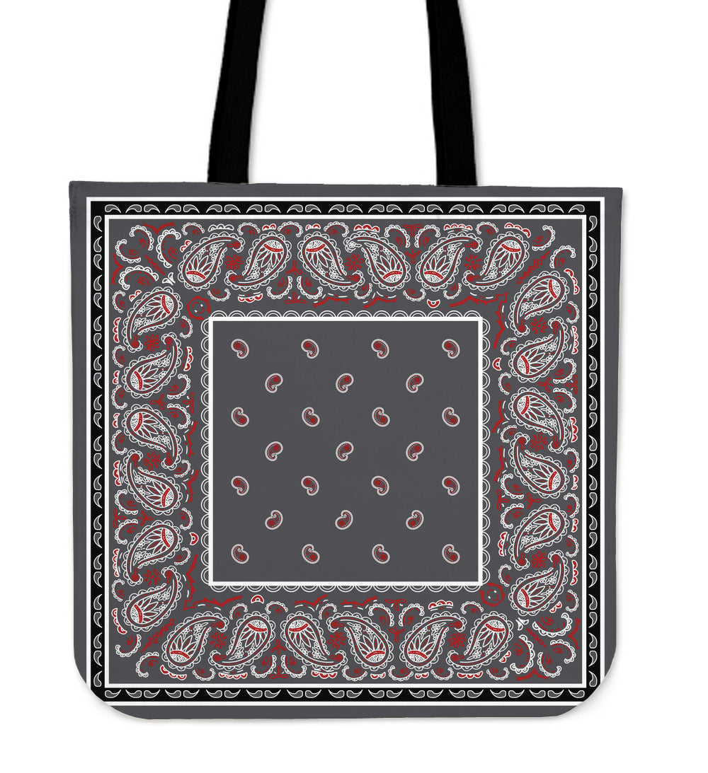 Wicked Gray with Black Bandana Tote Bag - Spangle