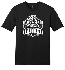 Born To Be Wild White Logo Unisex T-Shirt - Spangle