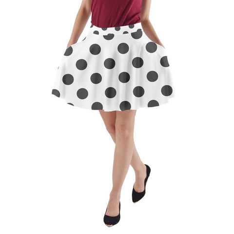 Ava Skirt - Black polka dots - Spangle