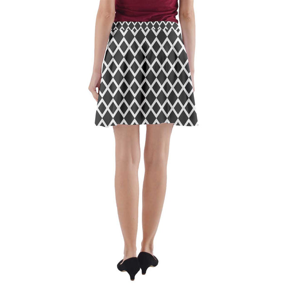 Ava Skirt - B&W diamond pattern - Spangle