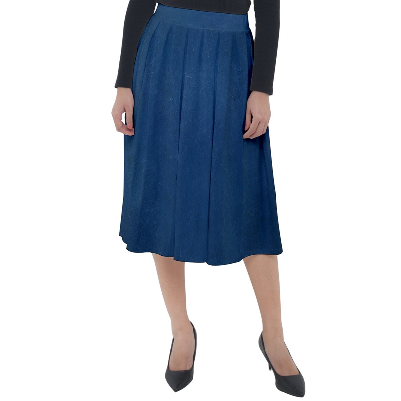 The Brooke Skirt - Classic Velour Midi Sapphire - Spangle