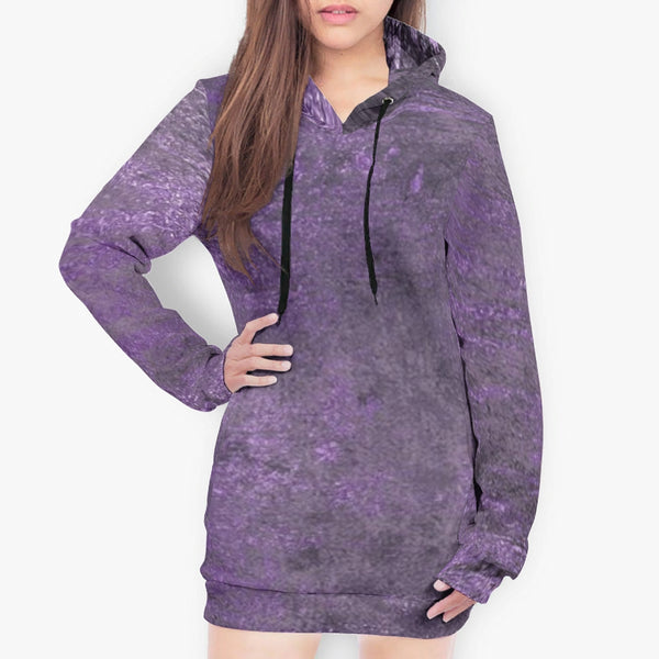 Purple Hoodie Dress - Spangle