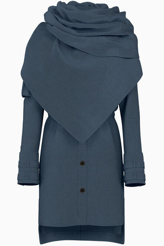 Kaia Utility Jacket W/Detachable Shawl Neckline - Spangle