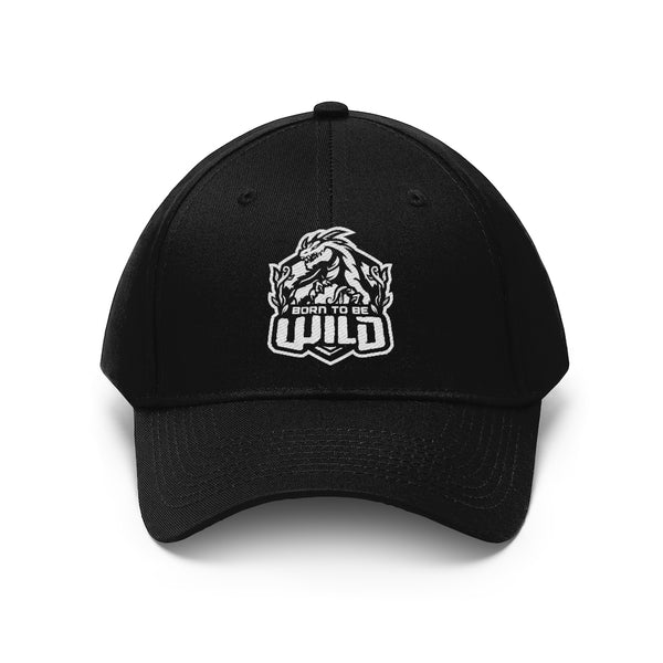 Born To Be Wild White Logo Unisex Twill Hat - Spangle