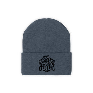 Born To Be Wild Black Logo Knit Beanie - Spangle