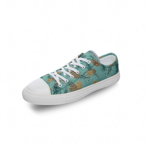 Green Pineapple Low Top Canvas Shoes - Spangle